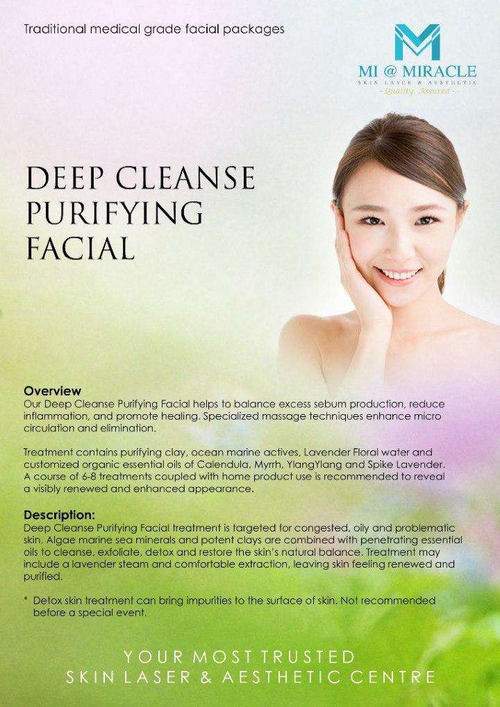 Deep Clense Purifying Facial Miracle Centre