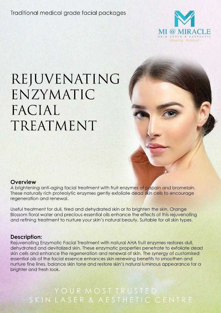 Rejuvenating Enzymatic Facial Treatment Miracle Centre